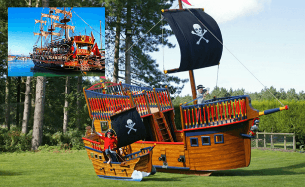 pirate galleon play replica ship