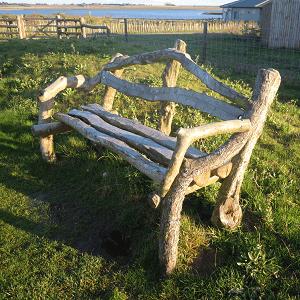 Rustic Wooden Bench