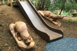 slide and otters rushden lakes play area