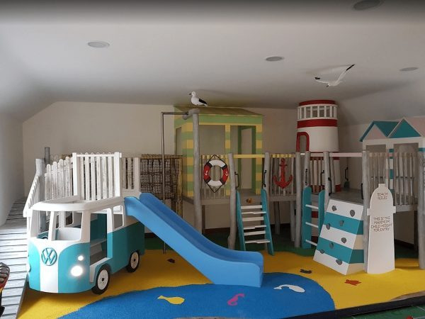 view of little kings indoor play area