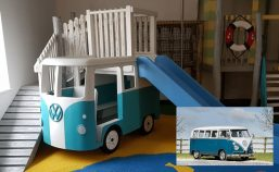 vw camper miniature play replica